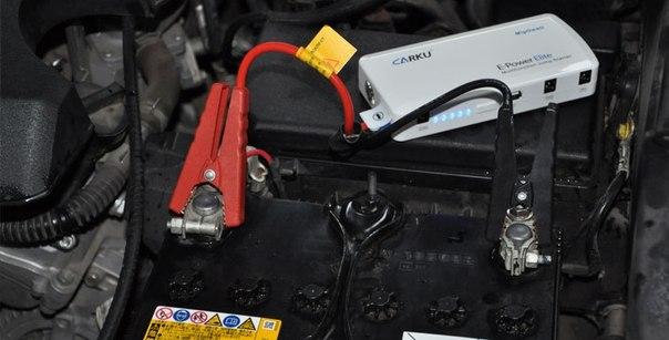 Пример запуска автомобиля с помощью устройства Carku E-Power Elite